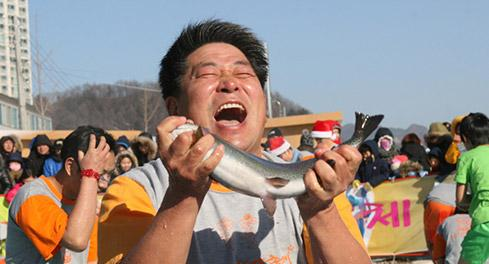 A Place to Enjoy Snow, Ice and Trout Pyeongchang Trout Festival